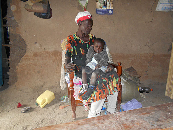 Aging Grandmother with child.
